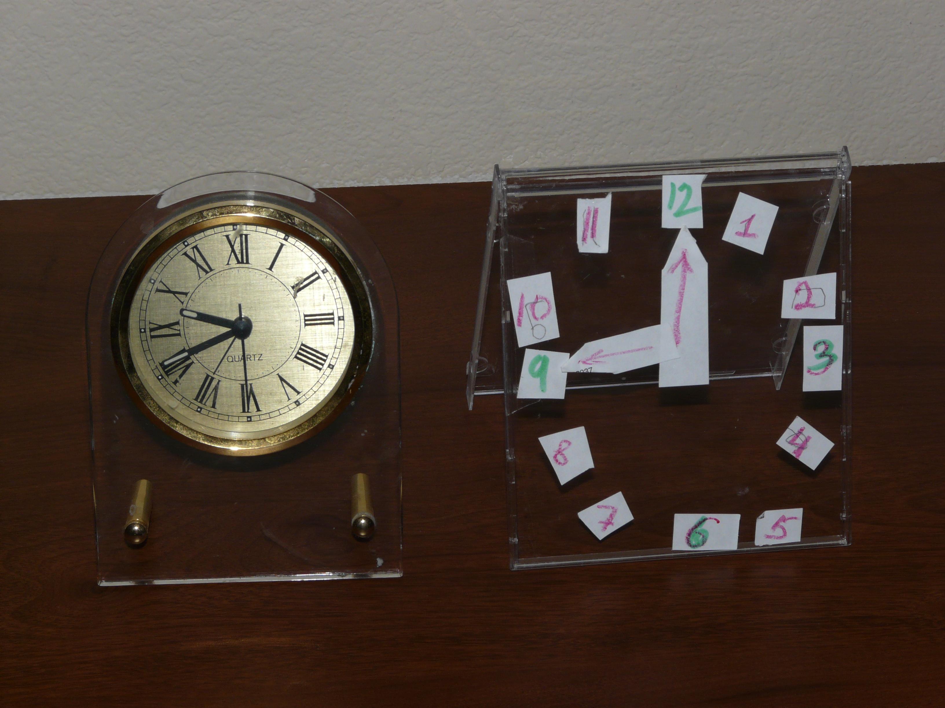 Мамины и Адамины часы для сравнения