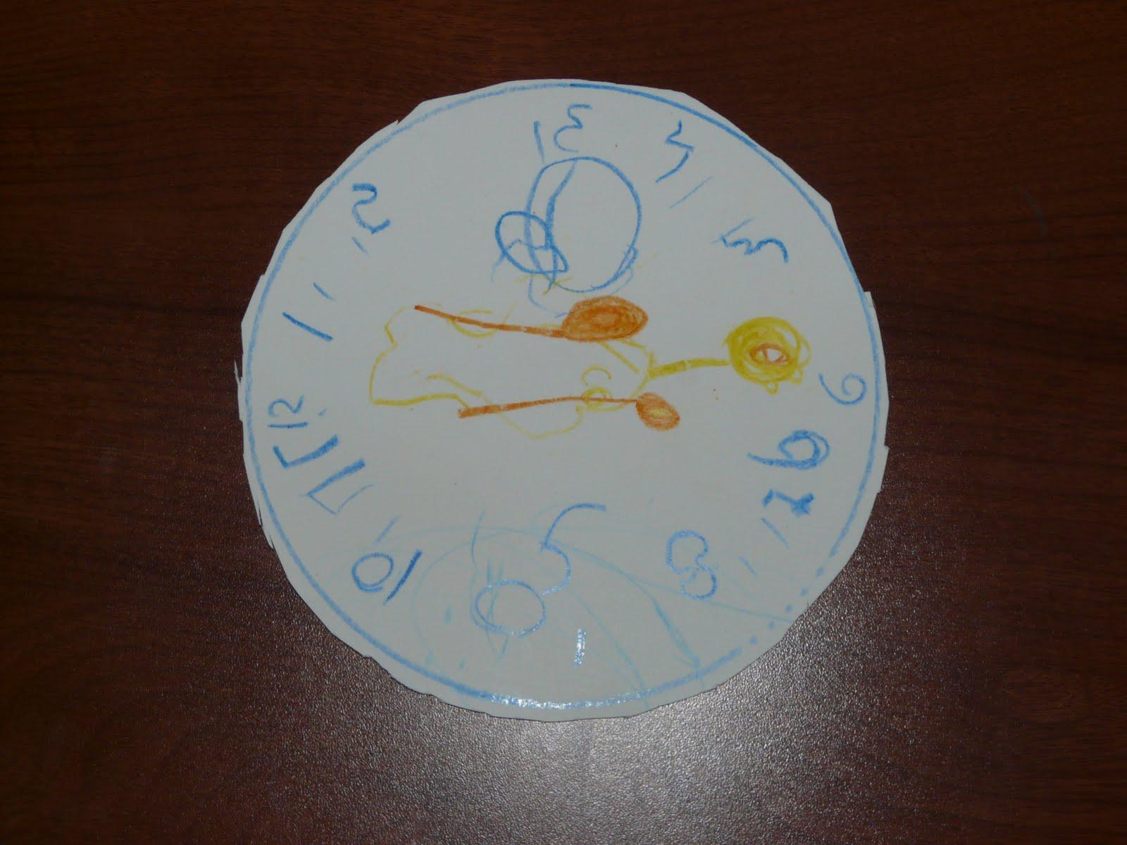 Adam's FunClock - форма изготовлена с помощью плошки для корнфлекса, циферблат вырезан тупыми ножницами