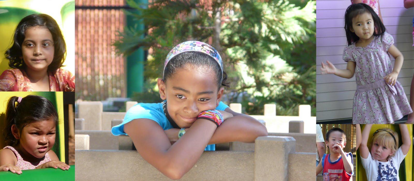 Я снимала детей 5 минут в парке Сан Хосе