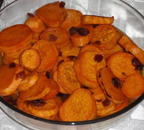 Батат под апельсиновым соусом