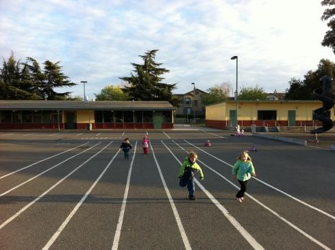 Тренировка перед футбольным матчем
