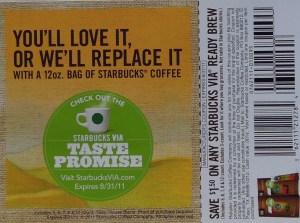 Starbucks' coupon