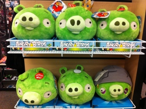 """Angry Birds"" toys  at Nordstrom store"