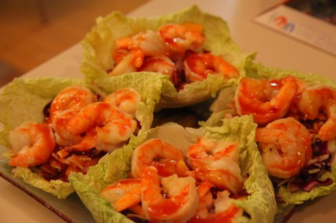 Shrimps Taj salad